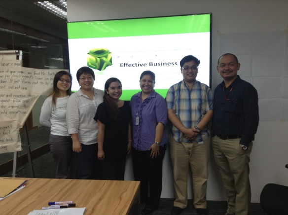 (L-R) Sheila, Juvy, Maria, Trina Llona (TGBLS Learning Consultant), Royce, Sheridan Simbulan ( CCFEL Service Center Manager, GBS HR – Pacific)